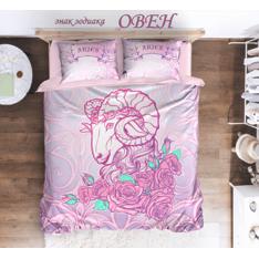 Постельное белье NewTone знак зодиака Овен розовый